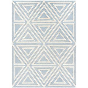 Rectangular 5' x 7' Rug, Blue, large