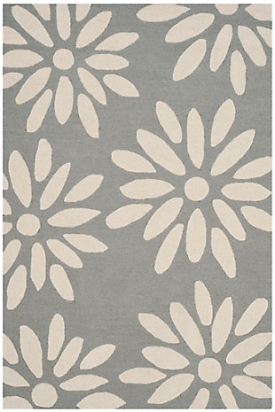 Rectangular 3' x 5' Rug, Gray, rollover