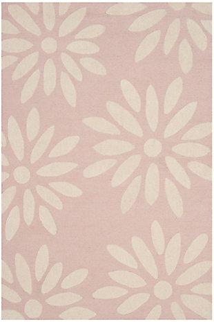 Rectangular 3' x 5' Rug, Pink, large