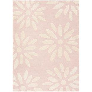 Rectangular 5' x 7' Rug, Pink, large