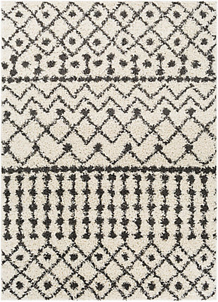 "Surya Taza 5'2"" x 7' Area Rug, Black/Gray, large"