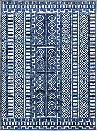 "Surya Ustad 5'3"" x 7'3"" Area Rug, Blue, large"