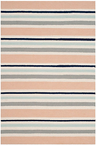 Rectangular 4' x 6' Rug, White, rollover