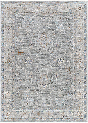 "Home Accent Ella 5'3"" x 7'7"" Area Rug, Black/Gray, large"
