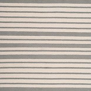 Rectangular 4' x 6' Rug, Gray, large