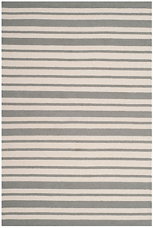 Rectangular 4' x 6' Rug, Gray, rollover