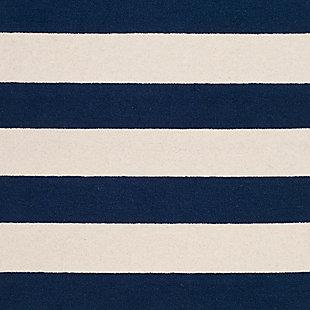 Rectangular 3' x 5' Rug, Blue, large