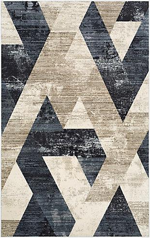 "Home Accent Dallas 5' x 7'10"" Area Rug, Black/Gray, large"