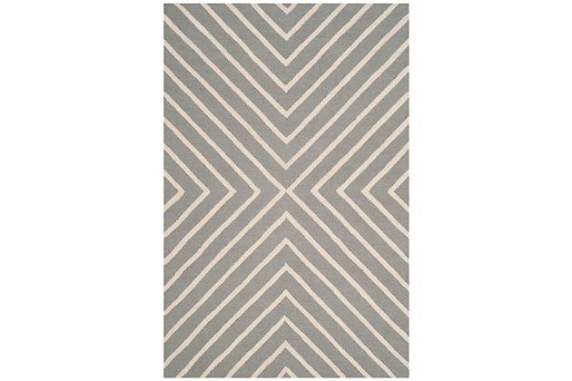 Rectangular 3' x 5' Rug, Gray, large