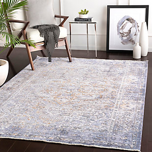 "Home Accent Isidra 5' x 7'10"" Area Rug, Blue, rollover"