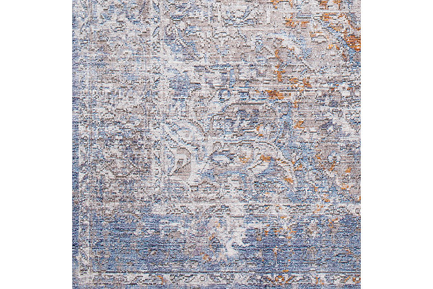 """Home Accent Isidra 5' x 7'10"""" Area Rug, Blue, large"""