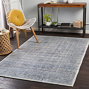 "Home Accent Fatimah 5' x 7'6"" Area Rug, Blue, rollover"