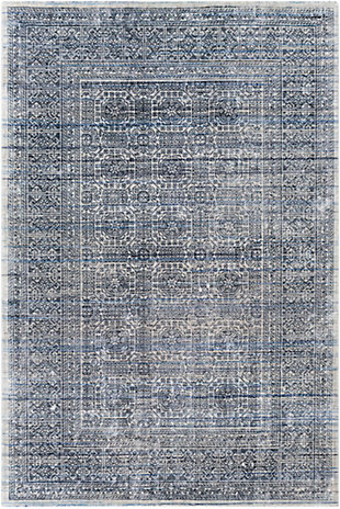 "Home Accent Fatimah 5' x 7'6"" Area Rug, Blue, large"