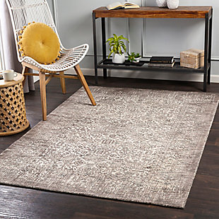 "Home Accent Roxy 5' x 7'6"" Area Rug, Black/Gray, rollover"