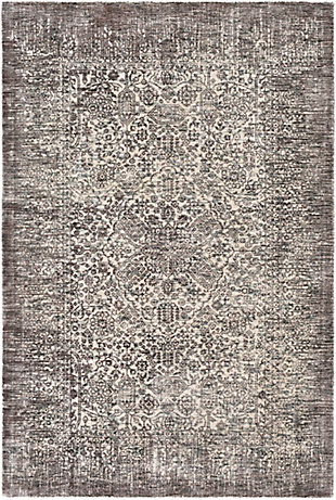 "Home Accent Roxy 5' x 7'6"" Area Rug, Black/Gray, large"