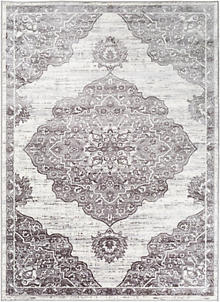"Surya Wanderlust 5'3"" x 7'3"" Area Rug, Black/Gray, large"