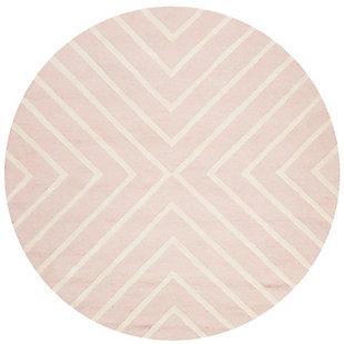 Round 5' x 5' Rug, Pink, large