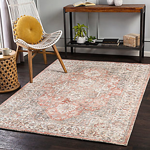 "Home Accent Kayla 5' x 7'6"" Area Rug, Red/Burgundy, rollover"