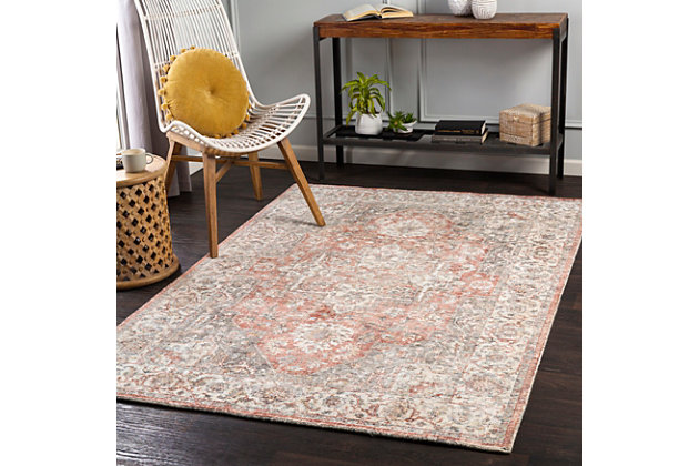 """Home Accent Kayla 5' x 7'6"""" Area Rug, Red/Burgundy, large"""