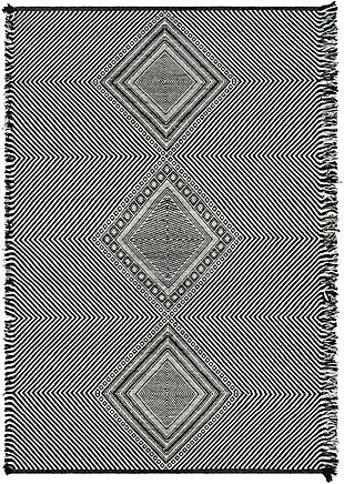 "Home Accent Launa 5' x 7'6"" Area Rug, Black/Gray, large"