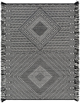 "Home Accent Merrilee 5' x 7'6"" Area Rug, Black/Gray, large"