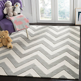 Rectangular 5' x 7' Rug, Gray, rollover