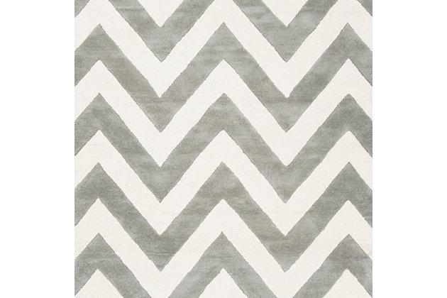 Rectangular 5' x 7' Rug, Gray, large