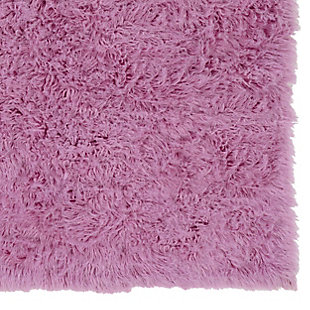 Home Accents Lilac 2'x3' Flokati Accent Rug, Purple, large