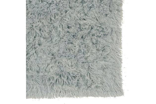 Home Accents Light Gray 2'x3' Flokati Accent Rug, Gray, large
