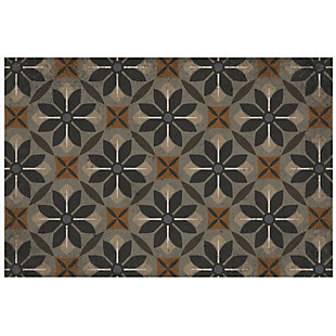 FlorArt Nazareth FlorArt 3'x5' Floor Mat, Brown, large