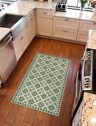 FlorArt Kirkwood Green FlorArt 3'x5' Floor Mat, Green, rollover