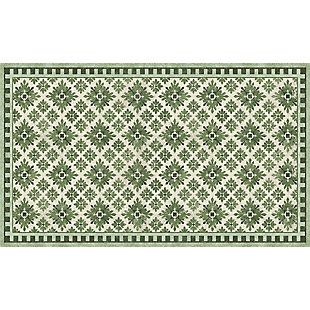 FlorArt Kirkwood Green FlorArt 3'x5' Floor Mat, Green, large