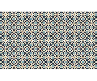 FlorArt Dwight Blue FlorArt 3'x5' Floor Mat, Blue, large