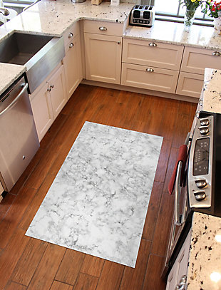 FlorArt Classic Marble FlorArt 3'x5' Floor Mat, Gray, rollover