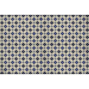 FlorArt Palisades FlorArt 3'x5' Floor Mat, Blue/Beige, large
