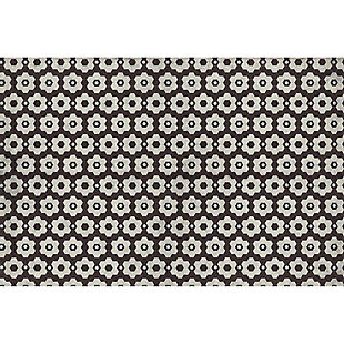 FlorArt Chicago Tile FlorArt 3'x5' Floor Mat, Brown/Beige, large