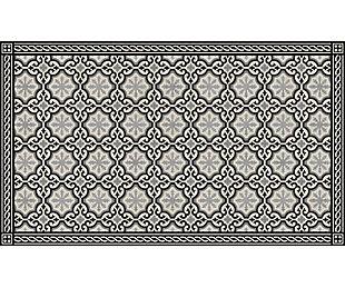 FlorArt Chelsea Noir FlorArt 3'x5' Floor Mat, Black/Gray, large