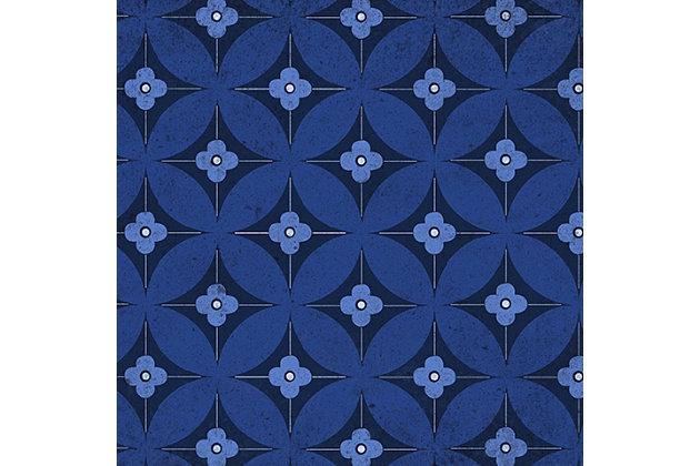 FlorArt Orleans Bloom FlorArt 3'x5' Floor Mat, Blue, large