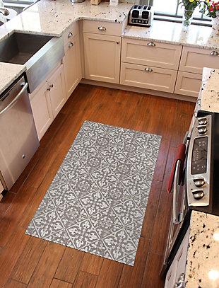 FlorArt Javid Taupe FlorArt 3'x5' Floor Mat, Brown, rollover