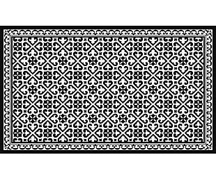 FlorArt Humboldt FlorArt 3'x5' Floor Mat, Black, large