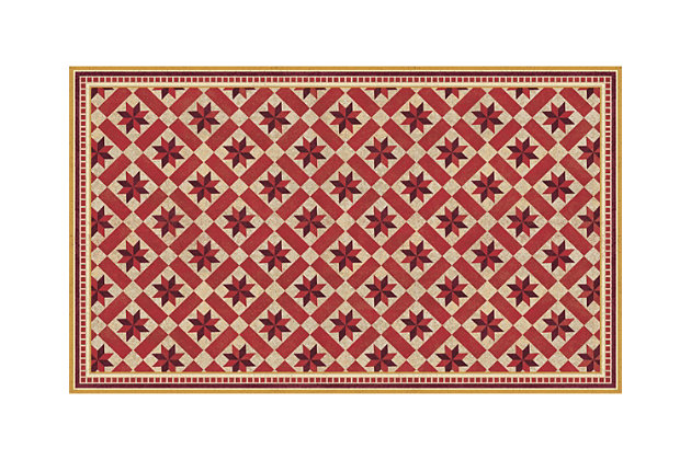 FlorArt York Crimson FlorArt 3'x5' Floor Mat, Red, large