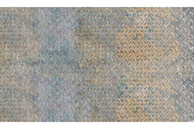 FlorArt Boiler Room FlorArt 3'x5' Floor Mat, Gray, large