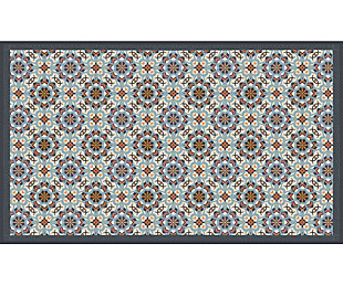 FlorArt Andria Tile FlorArt 3'x5' Floor Mat, Gray, large