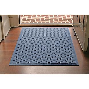 Waterhog Argyle 3' x 5' Doormat, Bluestone, rollover
