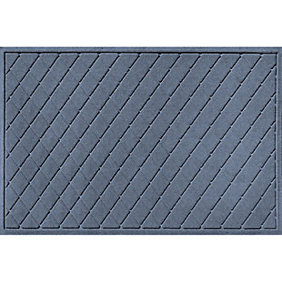 Waterhog Argyle 3' x 5' Doormat, Bluestone, large