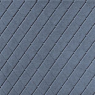Waterhog Argyle 3' x 5' Doormat, Bluestone, large