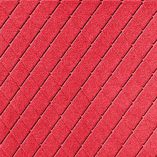 Waterhog Argyle 3' x 5' Doormat, Red, large