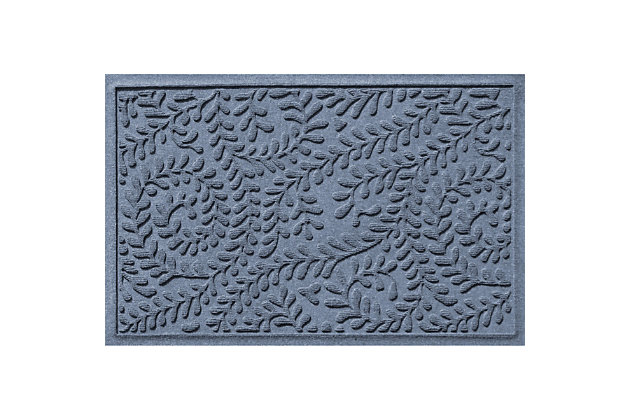Waterhog Boxwood 2' x 3' Doormat, Bluestone, large