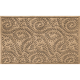 Waterhog Boxwood 3' x 5' Doormat, Camel, large
