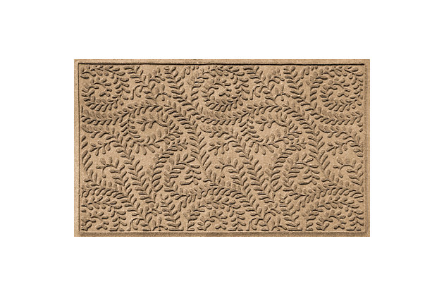 Waterhog Boxwood 3' x 5' Doormat, Camel, large